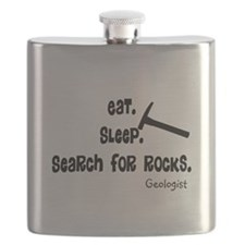Geologist Eat Sleep Rocks.PNG Flask
