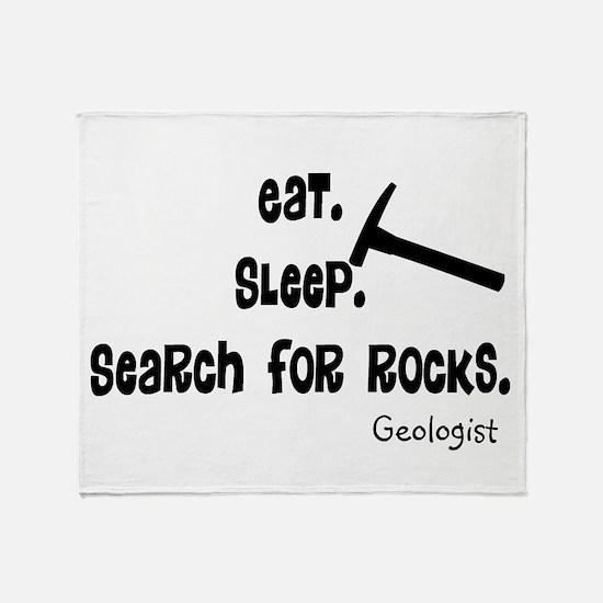 Geologist Eat Sleep Rocks.PNG Throw Blanket