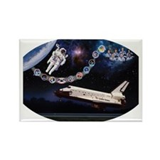 OV-099 Challenger Rectangle Magnet
