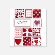 """Love to Quilt Square Sticker 3"""" x 3"""""""