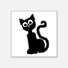 "Scat Cat Square Sticker 3"" x 3"""