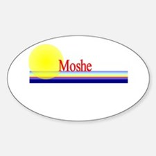 Moshe Oval Decal