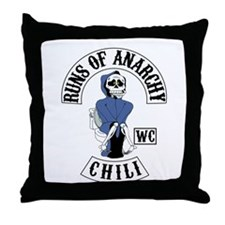 Runs of Anarchy Throw Pillow