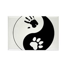 Big Cat Therian Ying Yang Rectangle Magnet