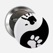 """Big Cat Therian Ying Yang 2.25"""" Button"""