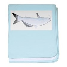 Blue Catfish fish baby blanket