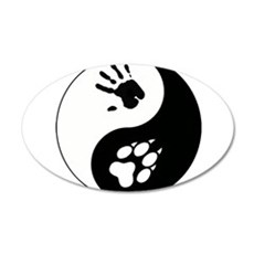 Wolf Therian Ying Yang Wall Decal