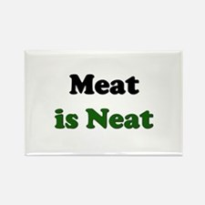 Meat is Neat Rectangle Magnet