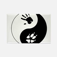 Fox Therian Ying Yang Rectangle Magnet