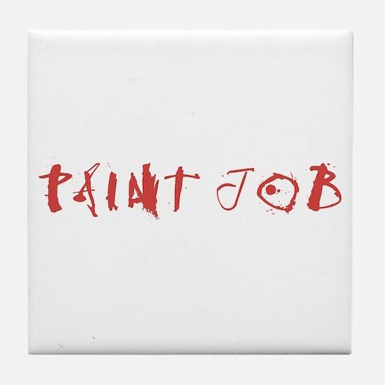 Paint Job Tile Coaster