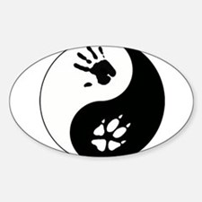 Fox Therian Ying Yang Sticker (Oval)