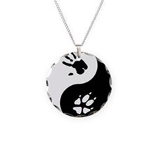 Fox Therian Ying Yang Necklace