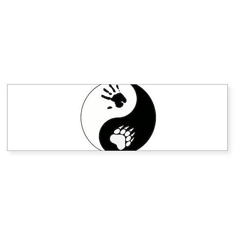 Bear Therian Ying Yang Sticker (Bumper)