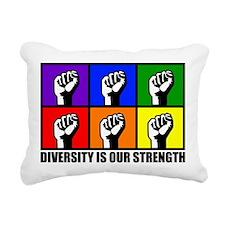 """Diversity"" Rectangular Canvas Pillow"