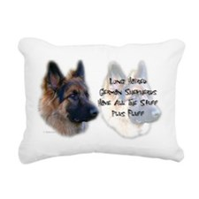 Long Haired GSD Rectangular Canvas Pillow