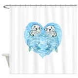 Sea otters Shower Curtains