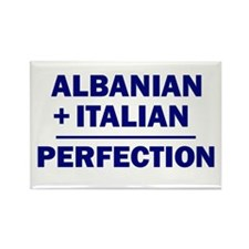 Albanian + Italian Rectangle Magnet (10 pack)