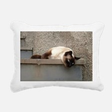B w Rectangular Canvas Pillow