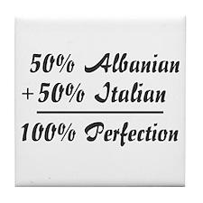 50% Italian + 50% Albanian =  Tile Coaster
