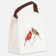 Northern Cardinal Mates Canvas Lunch Bag