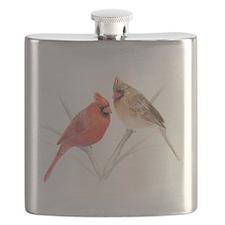Northern Cardinal Mates Flask