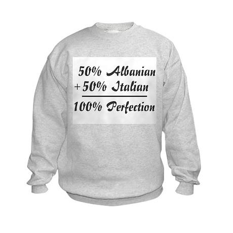 50% Italian + 50% Albanian = Kids Sweatshirt