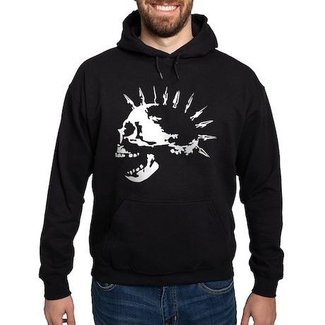 spike skull punk rock Hoodie (dark)