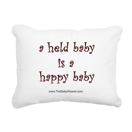 Held Baby Rectangular Canvas Pillow