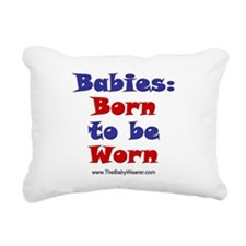 Born to be Worn (blue) Rectangular Canvas Pillow