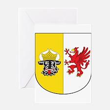 Mecklenburg-Vorpommern Wappen Greeting Card