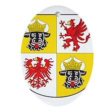 Mecklenburg-Vorpommern Landeswappen Ornament (Oval