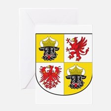 Mecklenburg-Vorpommern Landeswappen Greeting Card