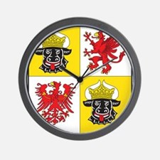 Mecklenburg-Vorpommern Landeswappen Wall Clock