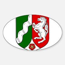 Nordrhein-Westfalen Wappen Sticker (Oval)