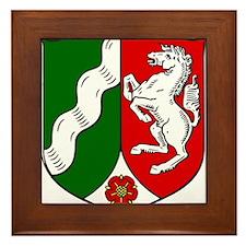 Nordrhein-Westfalen Wappen Framed Tile