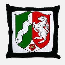Nordrhein-Westfalen Wappen Throw Pillow