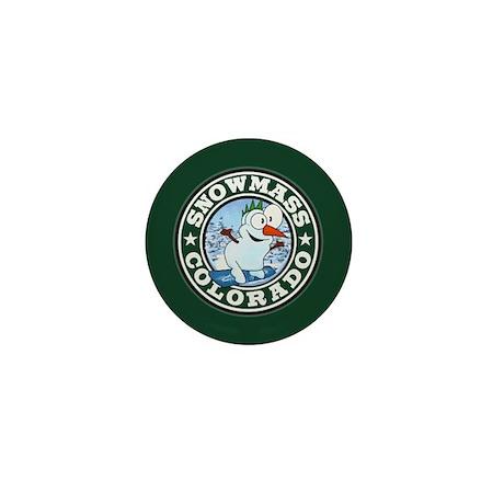 Snowmass Snowman Circle Mini Button