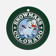 Snowmass Snowman Circle Ornament (Round)