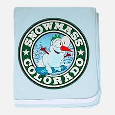 Snowmass Snowman Circle baby blanket