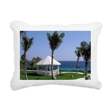 Tropical Gazebo Rectangular Canvas Pillow