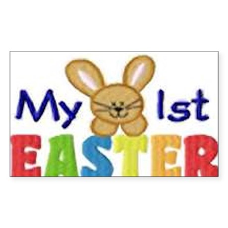 My 1st Easter Sticker (Rectangle)