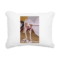 Mischievous Pointer Rectangular Canvas Pillow