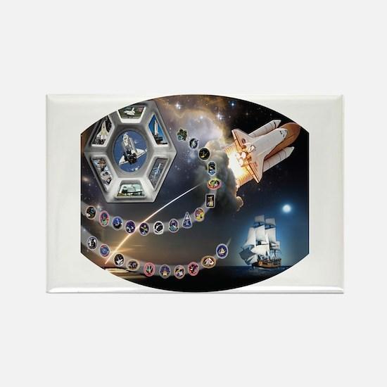 OV 105 Endeavour Rectangle Magnet