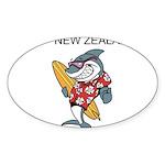 New Zealand Sticker (Oval 10 pk)