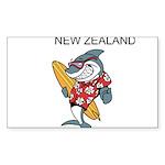 New Zealand Sticker (Rectangle 10 pk)