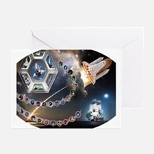 OV 105 Endeavour Greeting Cards (Pk of 10)