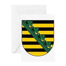 Sachsen Wappen Greeting Card