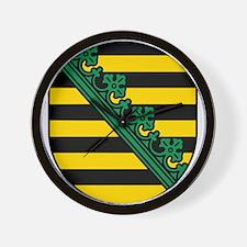 Sachsen Wappen Wall Clock