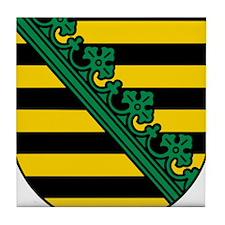 Sachsen Wappen Tile Coaster