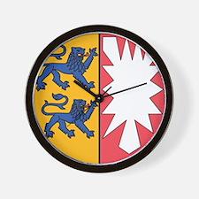 Schleswig-Holstein Wappen Wall Clock